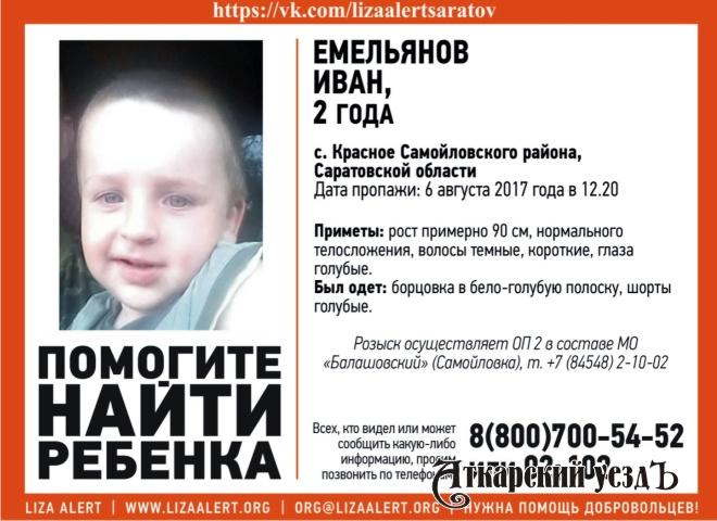 ВСамойловском районе пропал двухлетний ребенок