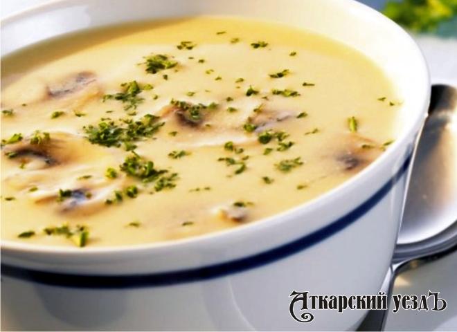 Рецепт дня от «Уезда»: вкусный грибной крем-суп с фасолью
