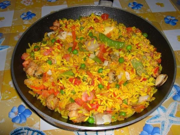 Рецепт паэлья с морепродуктами фото рецепт пошаговый
