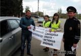 Школьники и инспекторы в Аткарске раздали водителям памятки. Фоторепортаж