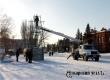В Аткарске на площади Звезд начался монтаж главной городской елки