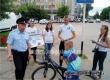 Волонтеры в Аткарске вручили памятки водителям двухколесного транспорта
