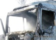 Тягач аткарчанина сгорел на трассе в Саратовской области