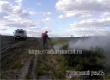 Неподалеку от Щербиновки ландшафтный пожар затушили ранцами