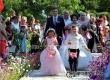 На фестивале поздравили молодоженов и юбиляров Розовой свадьбы