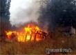 Во время ночного пожара в Ершовке сгорели старые сараи