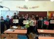 Школьники поддержали акцию «Алая ленточка – символ надежды»