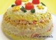 Салат-торт из риса с кукурузой – рецепт дня от «Уезда»