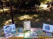 В городском парке библиотекари провели акцию «Книжка на ладошке»
