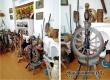 В мини-музее села Даниловка экспонируется 10 разных прялок