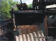 В селе Озерном из-за непотушенного окурка сгорела деревянная баня