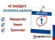 ФНС напоминает об уплате имущественных налогов до 1 декабря
