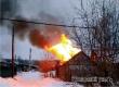 Пожар уничтожил деревянную баню на улице Кавказская. Видео