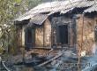 В Аткарске на улице Набережная сгорел заброшенный дом